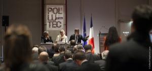 Le COSEI novembre 2012 en présence de Delphine Batho et Arnaud Montebourg sur le salon Pollutec © Pollutec
